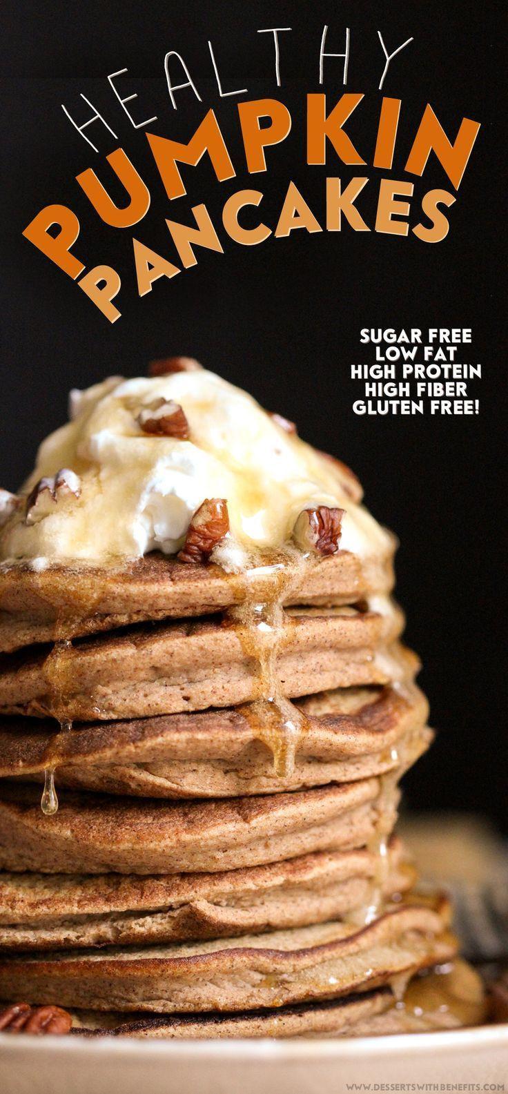 Low Fat High Fiber Recipes  25 best ideas about Healthy pumpkin pancakes on Pinterest