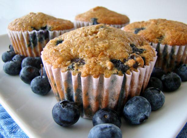 Low Fat High Fiber Recipes  Low Fat High Fiber Blueberry Bran Muffins Recipe Food