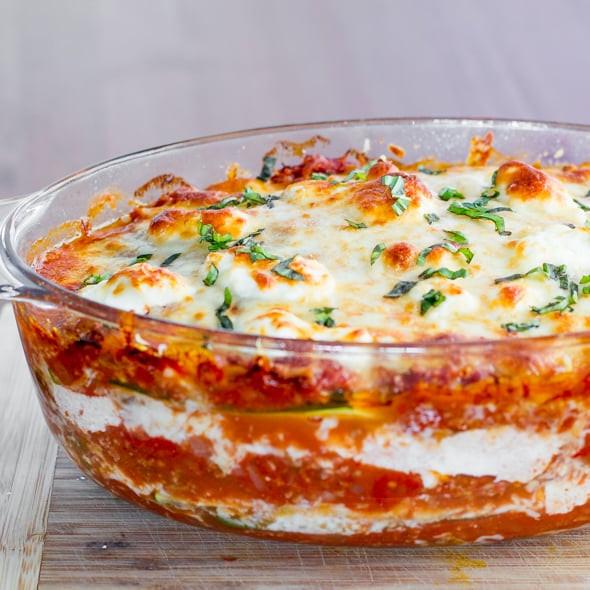Low Fat Lasagna  Zucchini Lasagna Jo Cooks