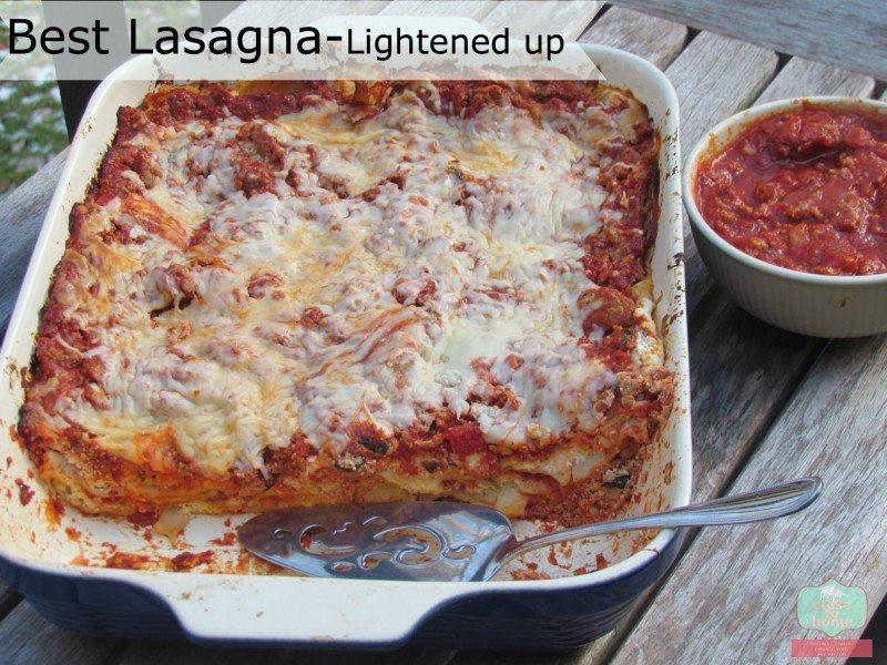 Low Fat Lasagna  low fat lasagna recipe