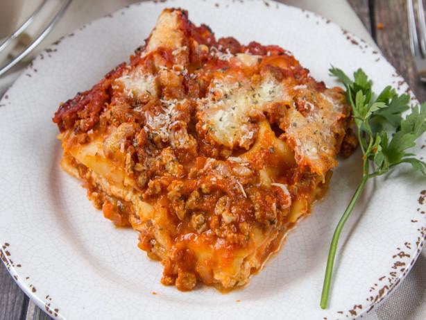 Low Fat Lasagna  Light fort Food Diet Recipes Genius Kitchen