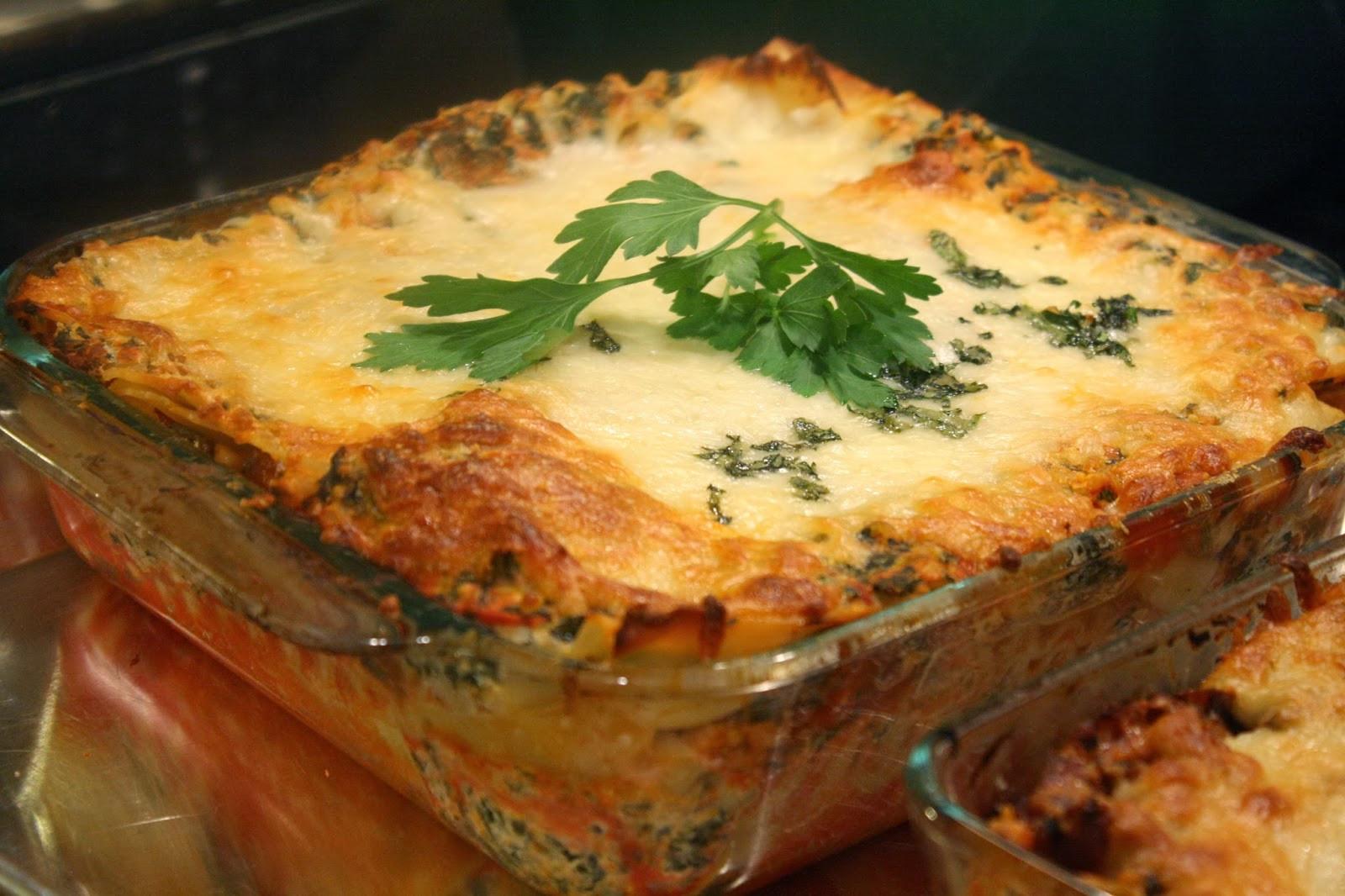 Low Fat Lasagna  The Food Gospel According to Ruth Low Fat Spinach Lasagna