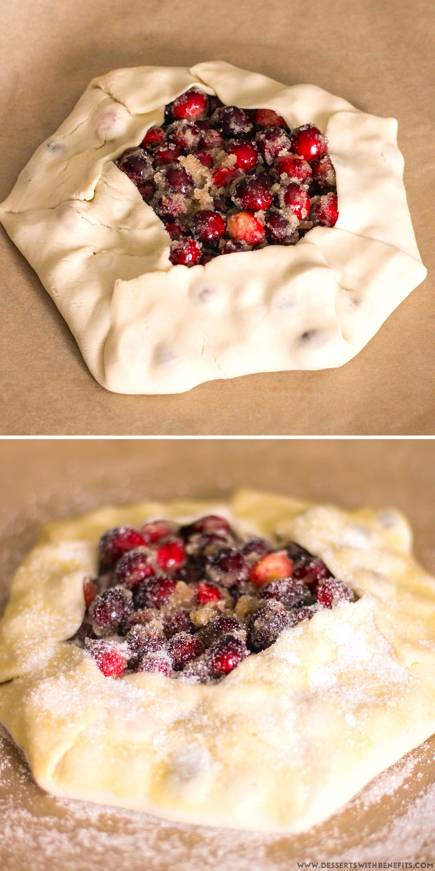 Low Fat Low Calorie Desserts  Guilt Free Cranberry Galette Recipe low calorie low fat