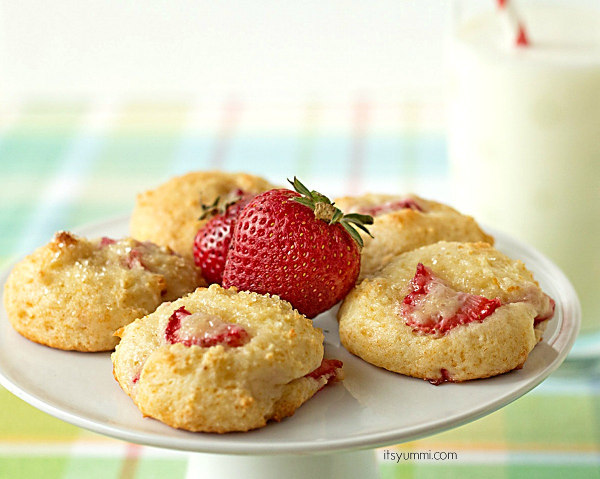 Low Fat Low Calorie Desserts  Strawberry Yogurt Cookies Healthier Desserts Recipe