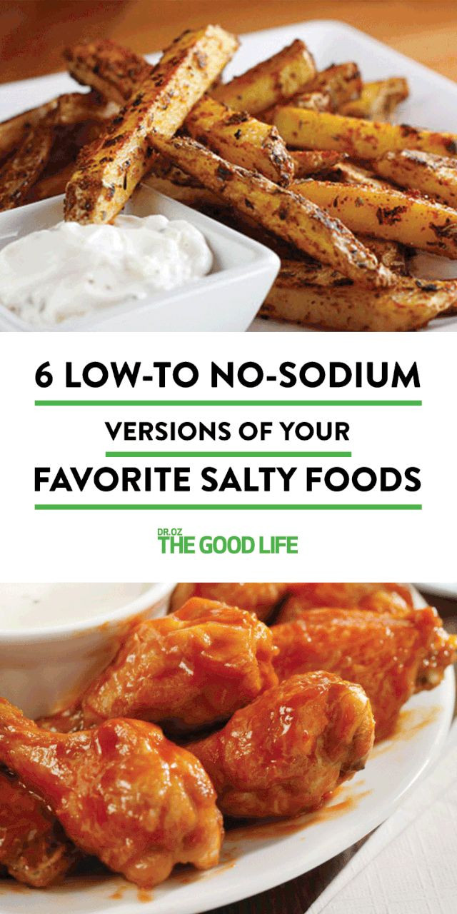 Low Fat Low Sodium Chicken Recipes  6 Low to No Sodium Versions of Your Favorite Salty Foods