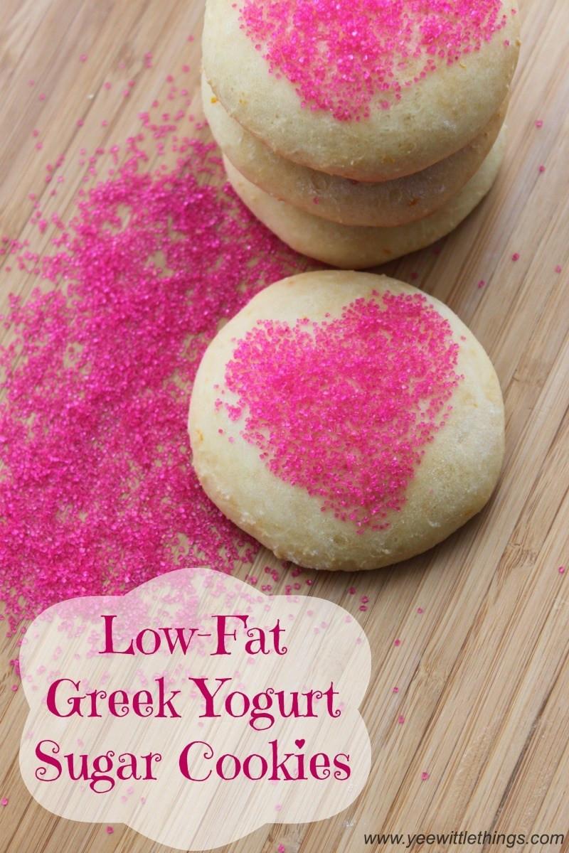 Low Fat Low Sugar Cookies  Low Fat Greek Yogurt Sugar Cookies Yee Wittle Things