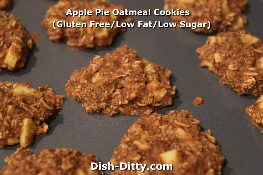 Low Fat Low Sugar Cookies  Apple Pie Oatmeal Cookies Gluten Free Low Fat Low Sugar