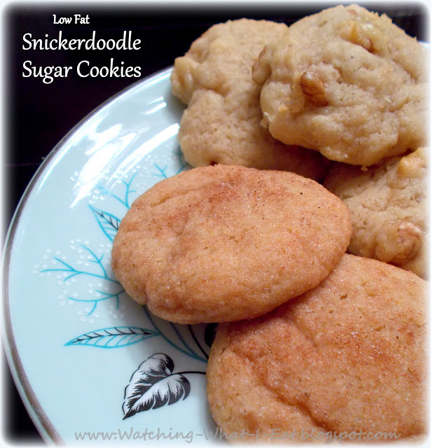 Low Fat Low Sugar Cookies  Watching What I Eat Low Fat Snickerdoodle Sugar Cookies