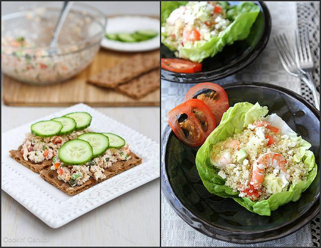 Low Fat Lunch Recipes  Low Fat Greek Chicken Salad Wrap Recipe