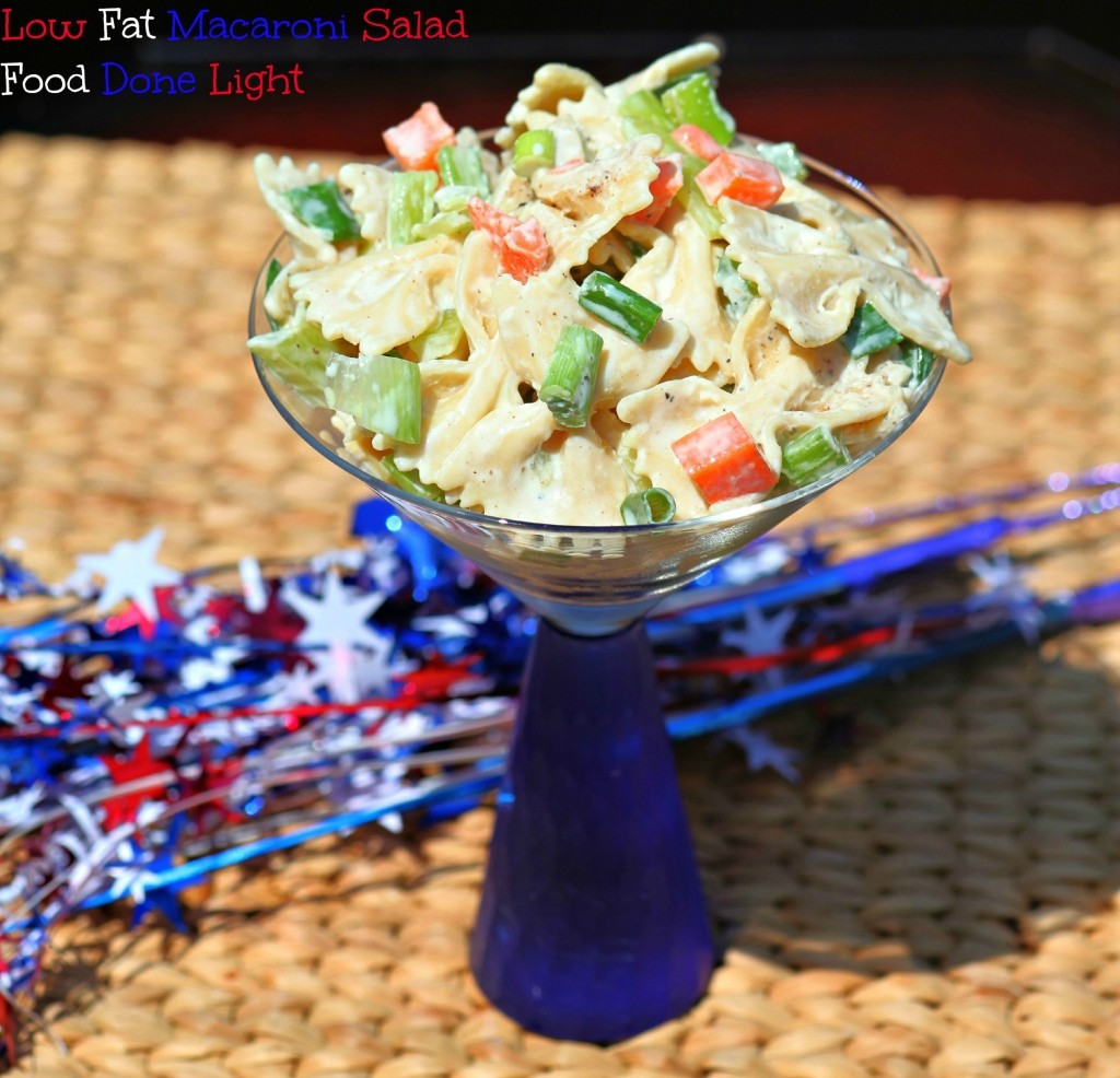 Low Fat Macaroni Salad  Low Fat Macaroni Salad