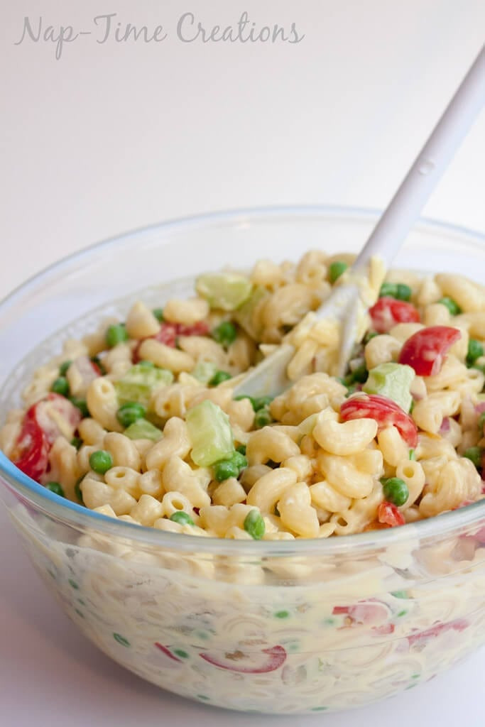 Low Fat Macaroni Salad  Low Fat Pasta Salad with Ve ables Life Sew Savory