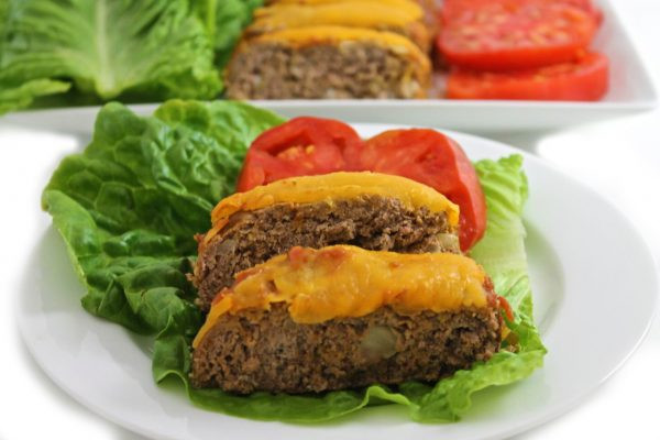 Low Fat Meatloaf  Low Calorie Cheeseburger Meatloaf with Weight Watchers