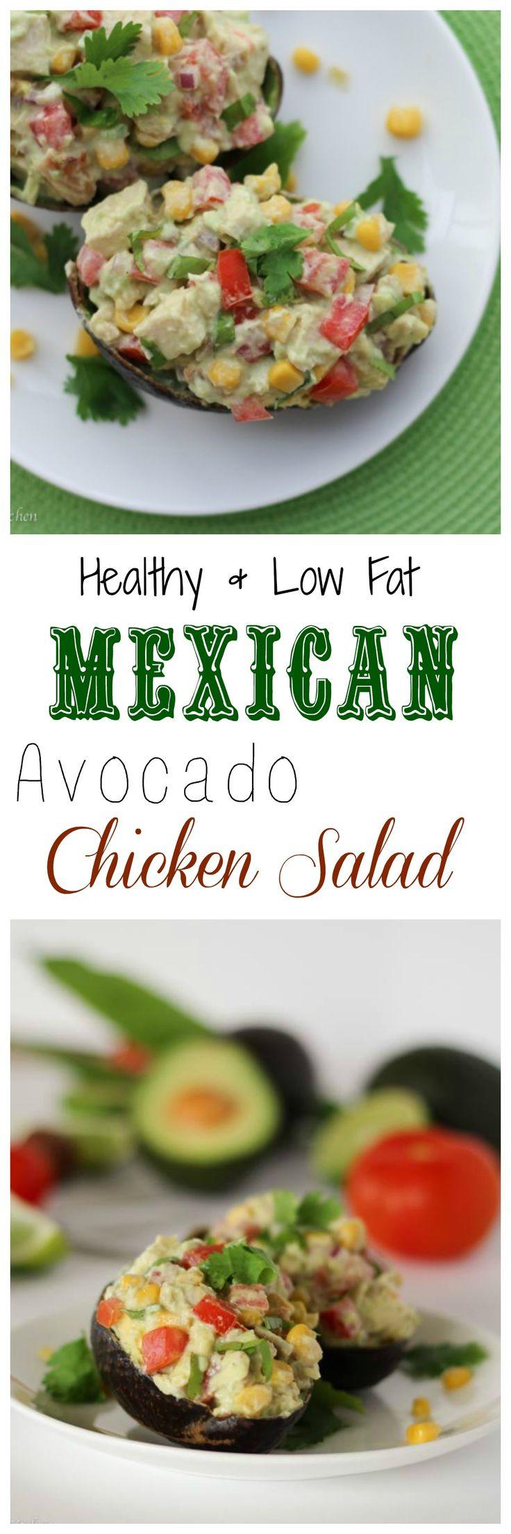 Low Fat Mexican Recipes  Healthy Low Fat Mexican Avocado Chicken Salad