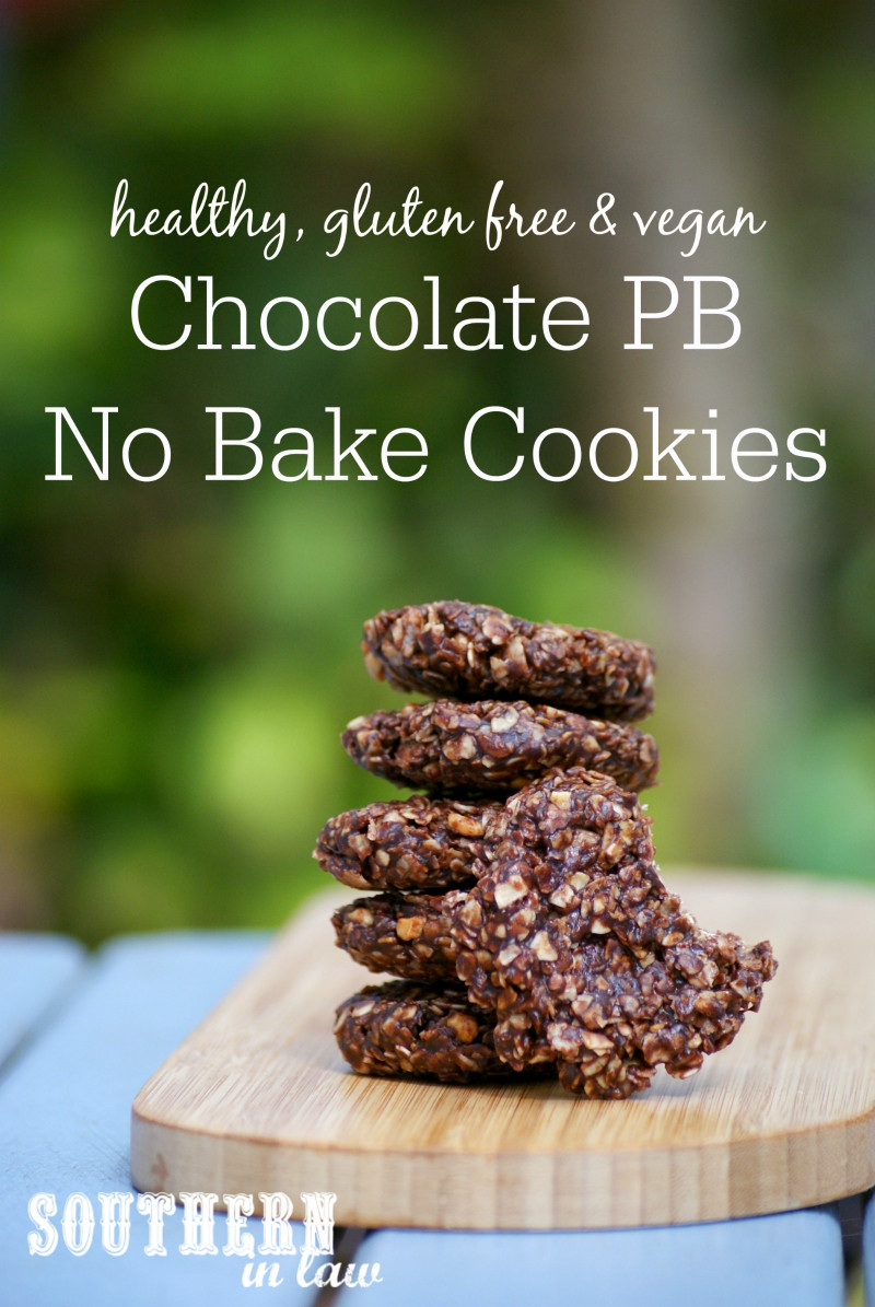Low Fat No Bake Cookies  Southern In Law Recipe Healthy No Bake Chocolate PB Cookies