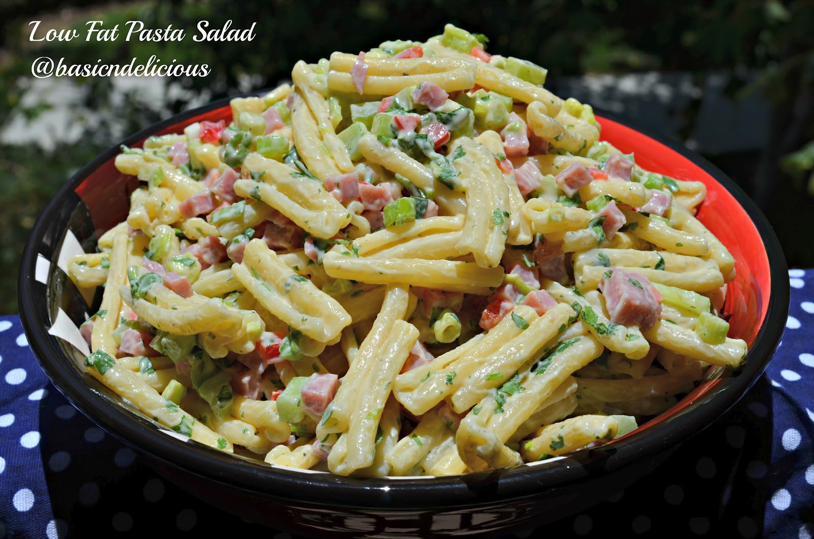 Low Fat Pasta Salad  BASIC N DELICIOUS LOW FAT PASTA SALAD 4th OF JULY