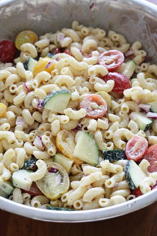 Low Fat Pasta Salad  Healthy Low Fat Pasta Salad y Amateurs Pics