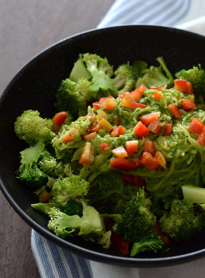 Low Fat Pesto Sauce  Low Fat Pesto Spaghetti Squash with Broccoli