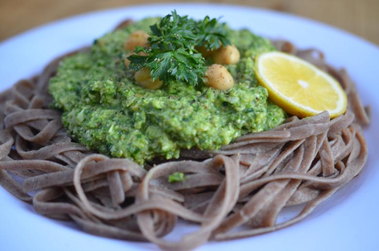 Low Fat Pesto Sauce  LOW FAT GREENS PESTO SAUCE