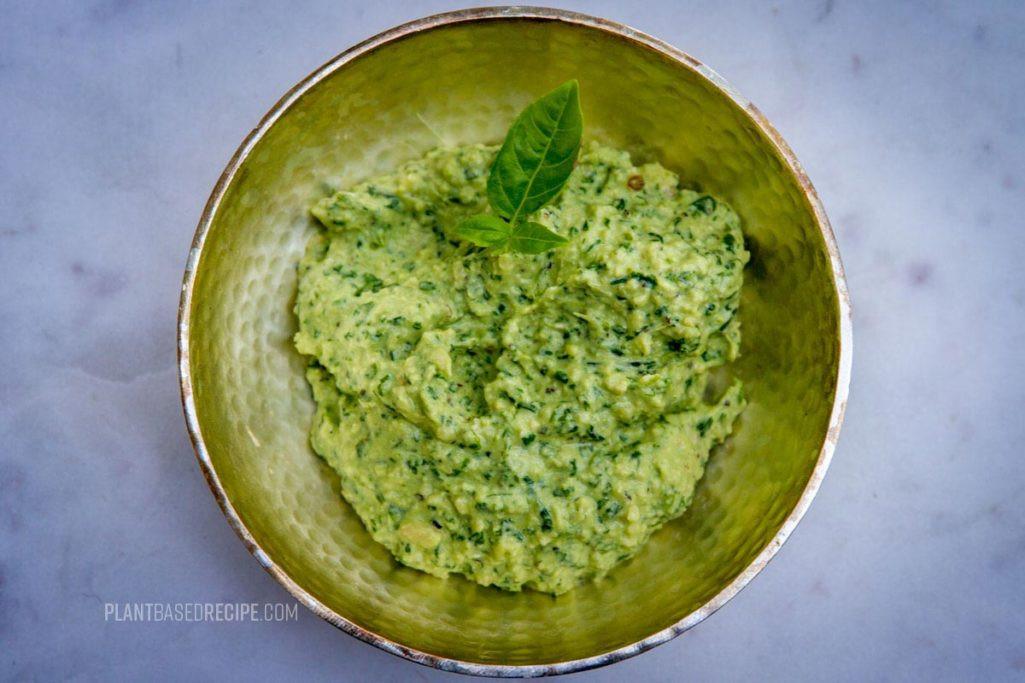 Low Fat Pesto Sauce  Oil free Basil Pesto Low fat vegan