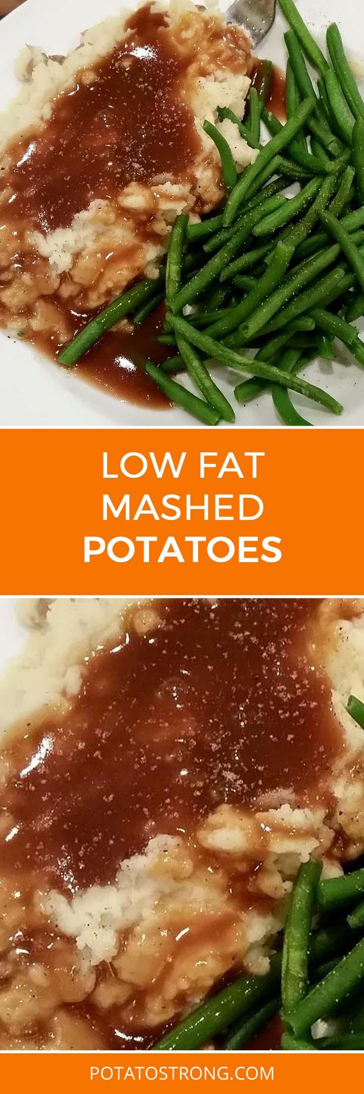 Low Fat Potato Recipes  Low Fat Mashed Potatoes No Milk Butter Needed Potato