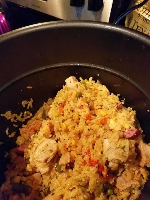 Low Fat Pressure Cooker Recipes  Low fat Arroz con Pollo in Pressure cooker Recipe