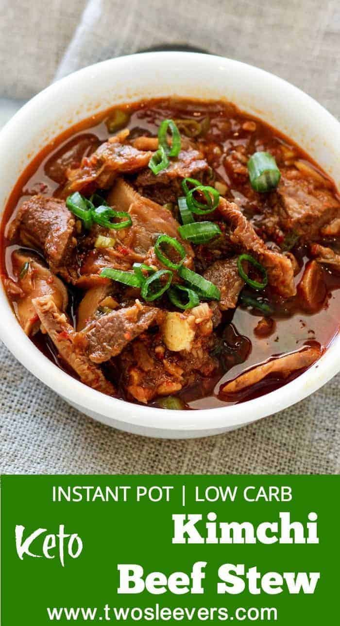 Low Fat Pressure Cooker Recipes  Instant Pot Pressure Cooker Low Carb Kimchi Beef Stew