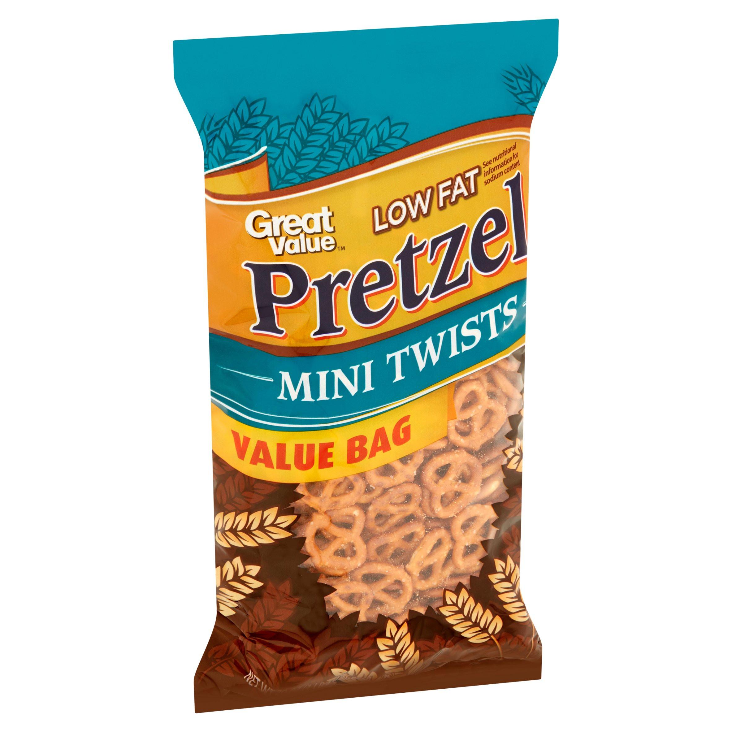 Low Fat Pretzels  Great Value Low Fat Pretzel Tiny Twists 20 oz
