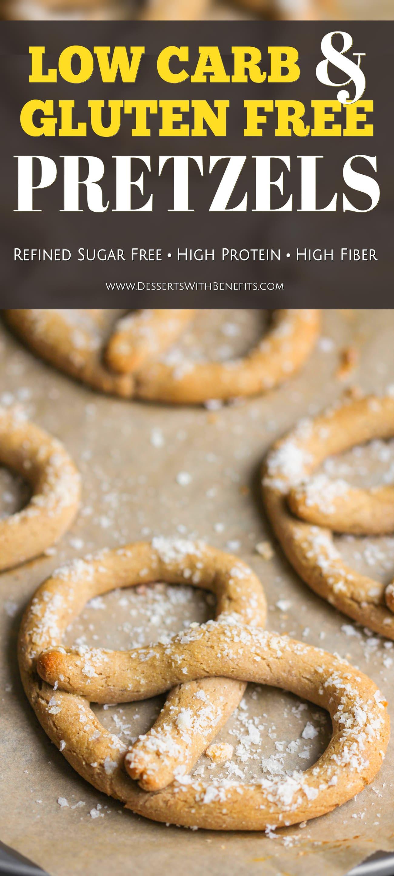 Low Fat Pretzels  Healthy Homemade Low Carb and Gluten Free Soft Pretzels Recipe