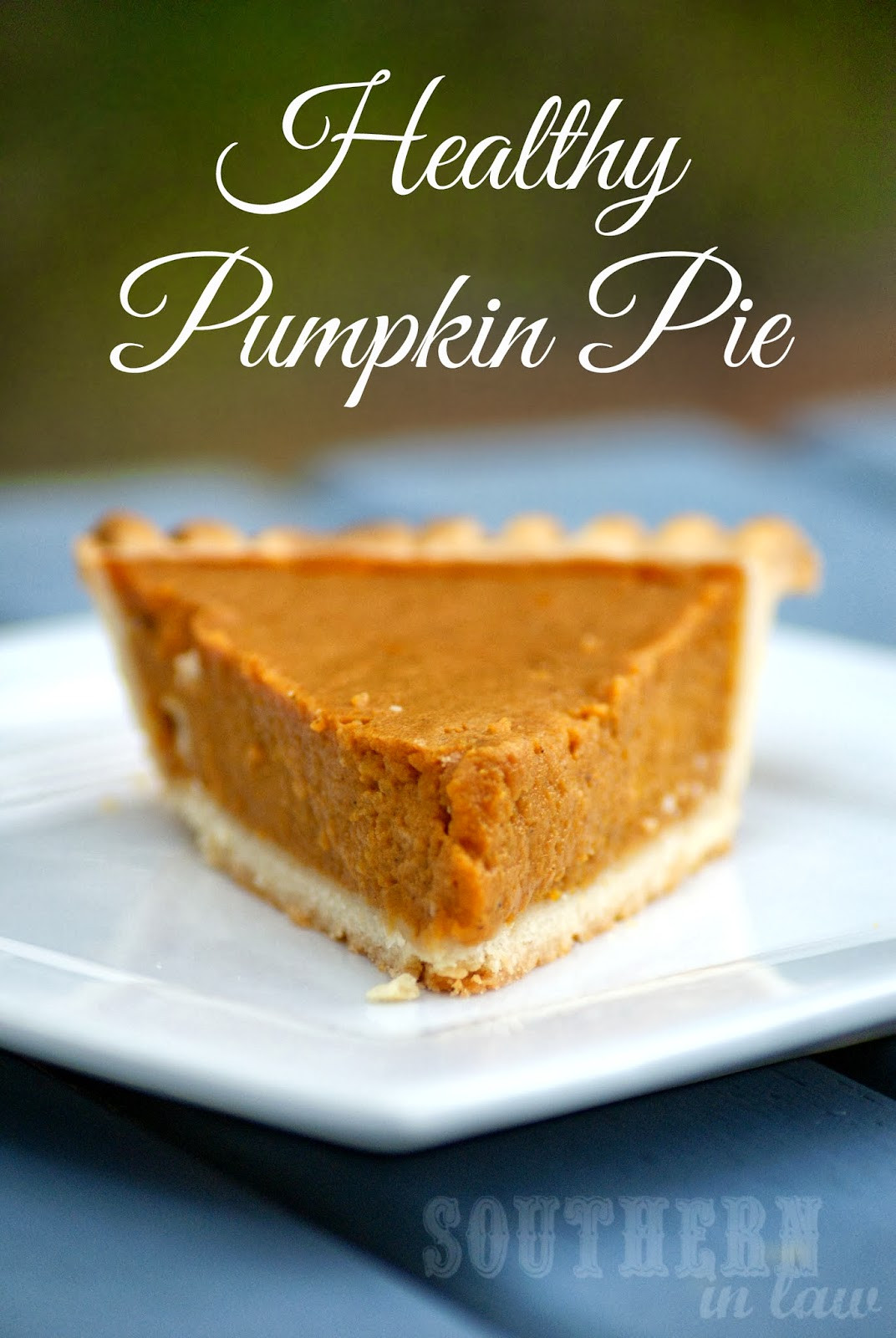 Low Fat Pumpkin Pie Recipe  Southern In Law Healthy Pumpkin Pie Recipe