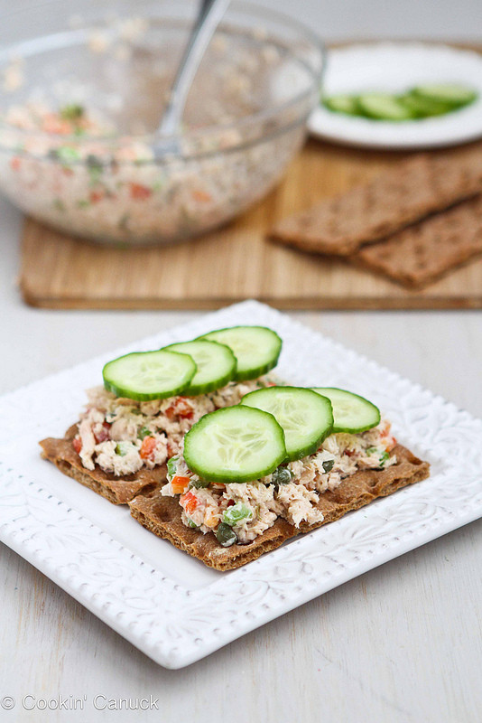 Low Fat Salad Recipes  Low Fat Salmon Salad Sandwich Recipe with Capers