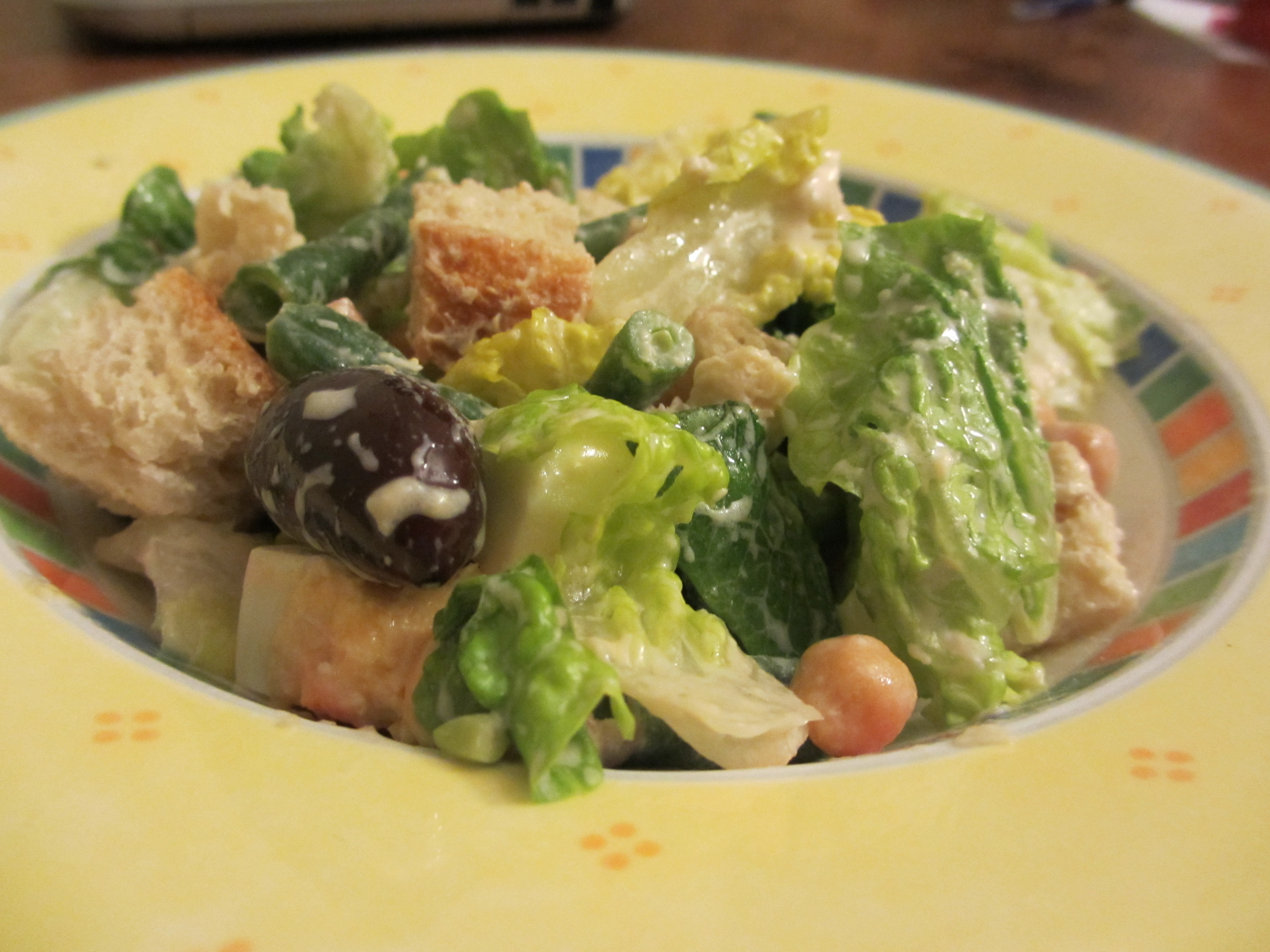 Low Fat Salads  Caesar Salad with Healthy Low Fat Egg free dressing