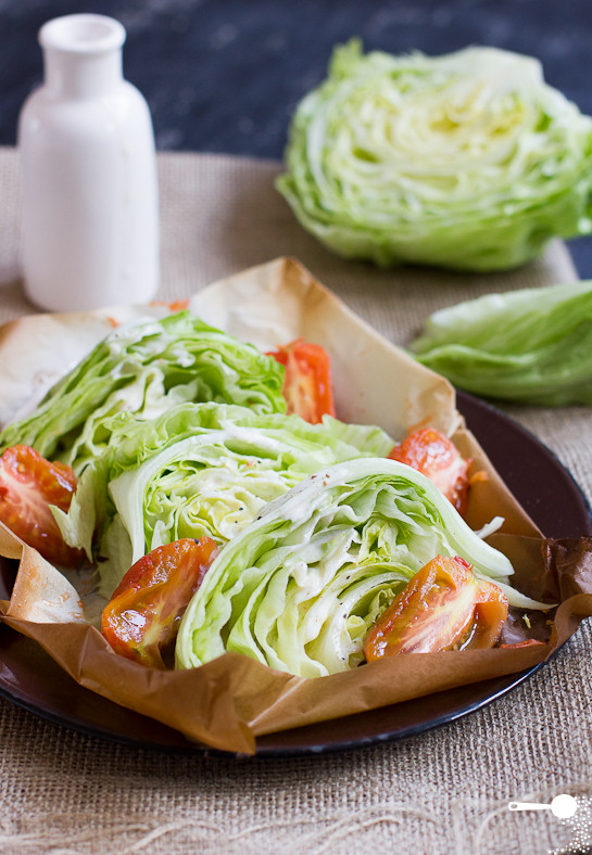 Low Fat Salads  Low Fat Wedge Salad with Smoked Tomatoes Wholesome Cook