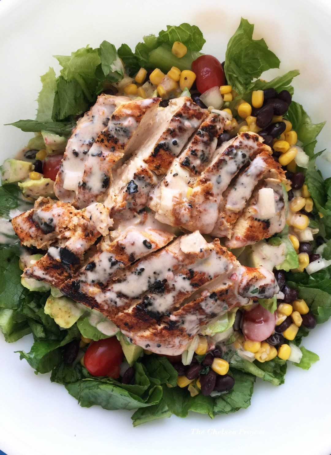 Low Fat Salads  Sriracha Chicken Salad with Low fat Creamy Chipotle