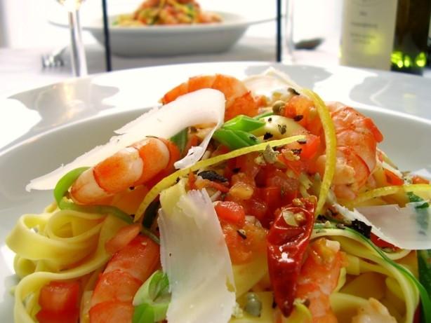 Low Fat Shrimp Recipes  Easy Spicy Shrimp Pasta Low Fat Recipe Food