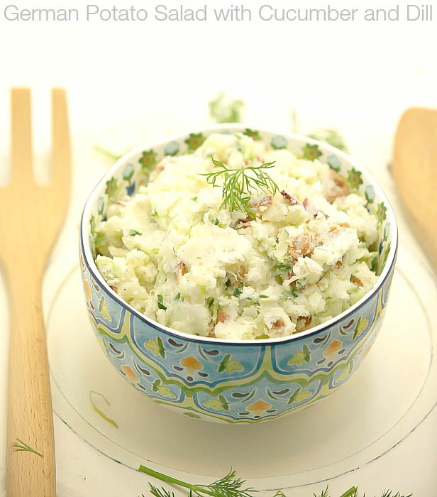 Low Fat Side Dishes  German Potato Salad with Cucumber and Dill