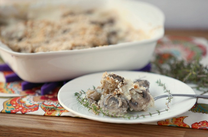 Low Fat Side Dishes  Mushroom Gratin Casserole Low Calorie Low Fat Healthy