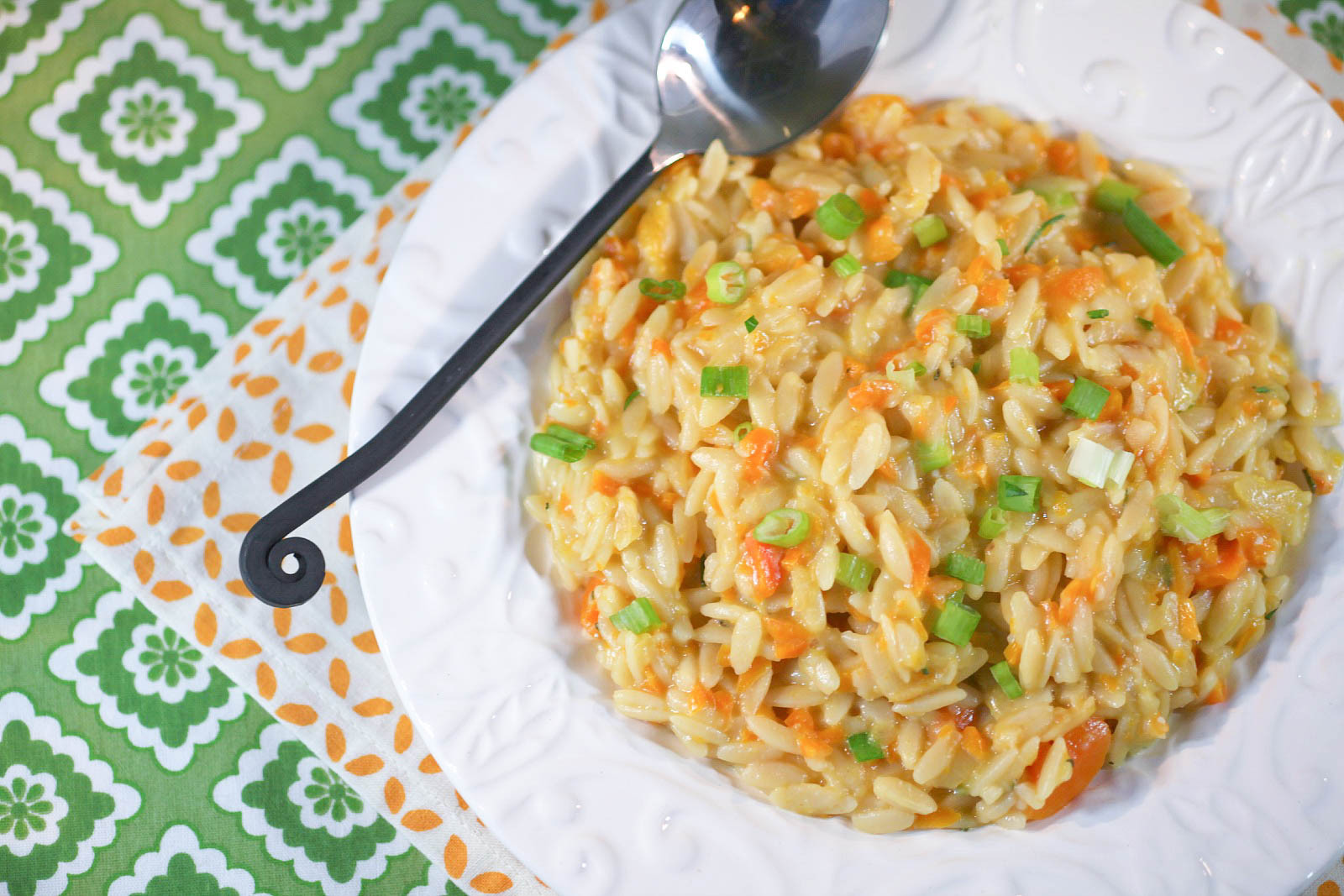 Low Fat Side Dishes  Orzo Risotto with Carrots Healthy Food Done Light