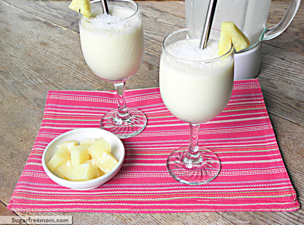 Low Fat Smoothies Low Carb Pina Colada Smoothie [No Sugar Added]