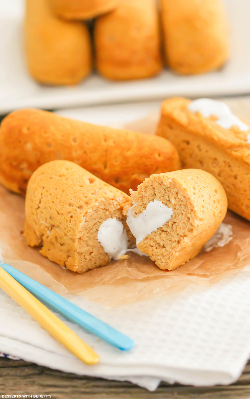 Low Fat Sugar Free Desserts  Healthy Homemade Twinkies sugar free low fat gluten free