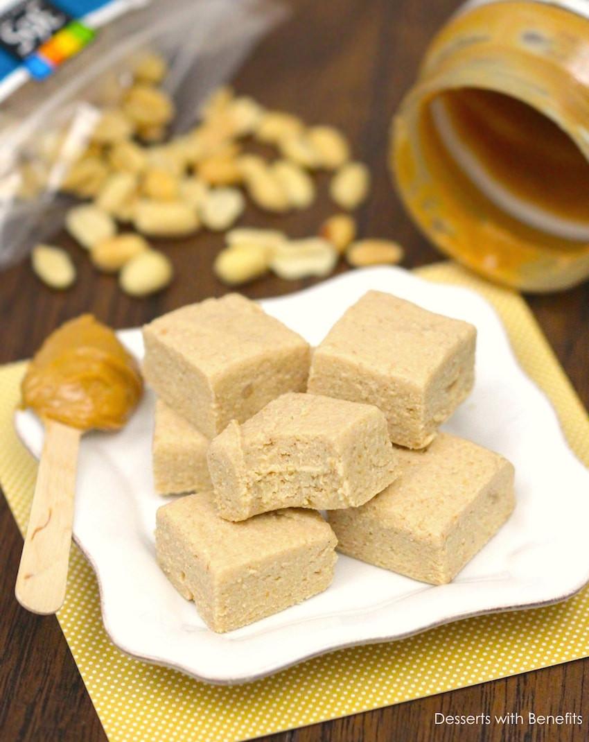 Low Fat Sugar Free Desserts  Desserts With Benefits Healthy Peanut Butter Fudge low