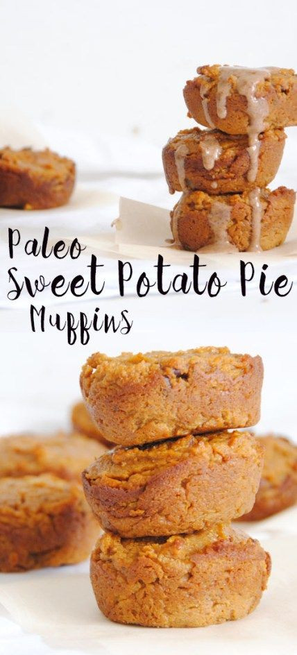 Low Fat Sweet Potato Pie  Paleo Sweet Potato Pie Muffins