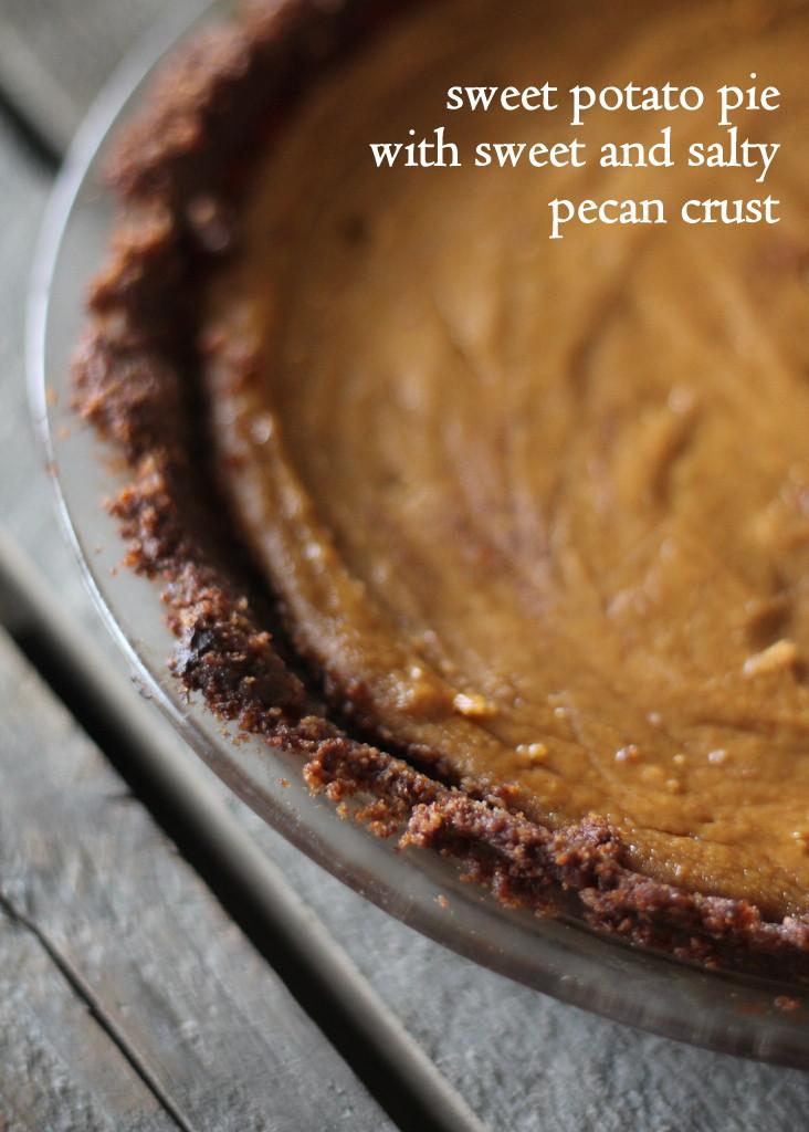 Low Fat Sweet Potato Pie  Sweet Potato Pie with Sweet and Salty Pecan Crust