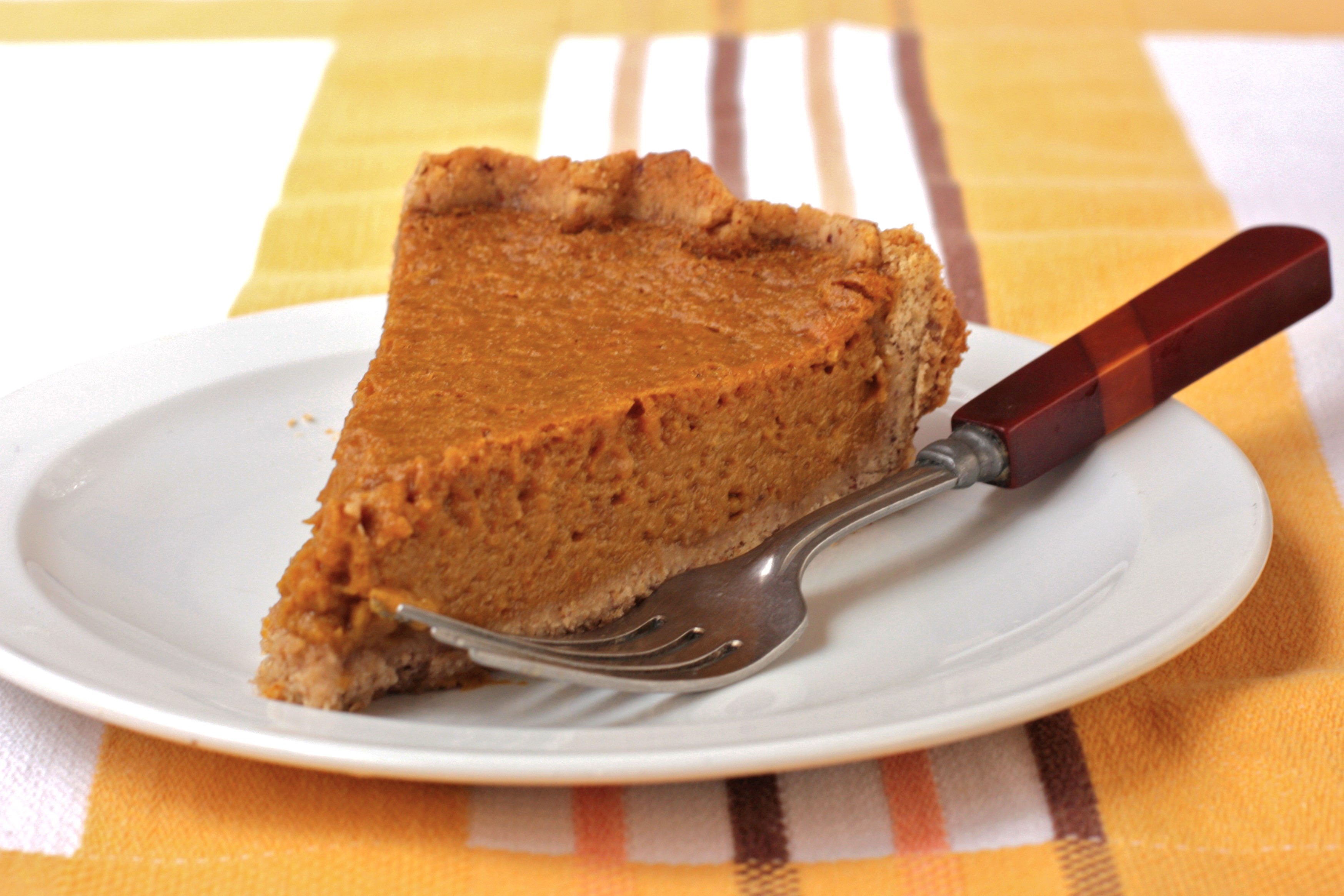 Low Fat Sweet Potato Pie  Healthy Thanksgiving recipe Low Fat Pumpkin Pie