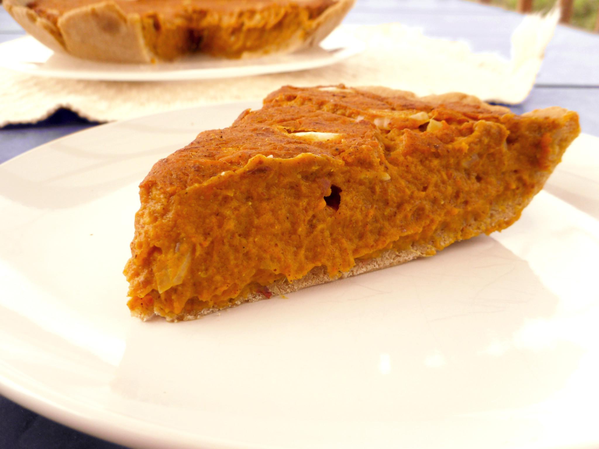 Low Fat Sweet Potato Pie  Thankful Vegan ion and Sweet Potato Pie Recipe Carob
