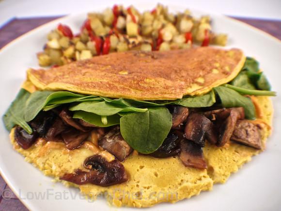 Low Fat Vegan Recipes  The Best Low Fat Vegan Silken Tofu Omelette Recipe