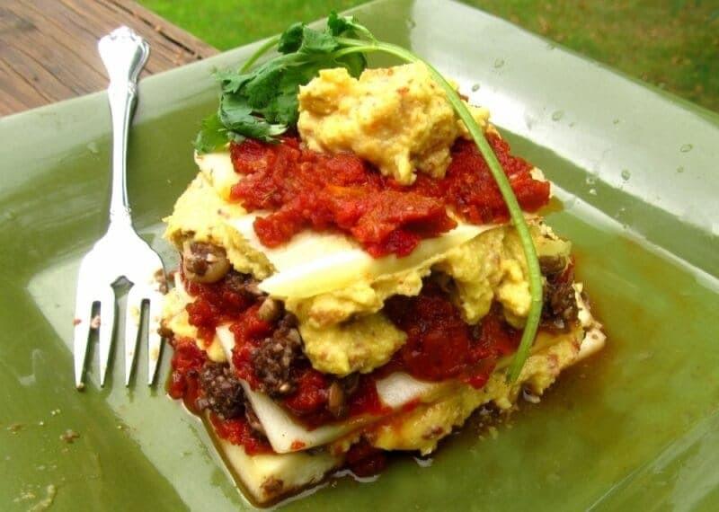 Low Fat Vegan Recipes  Best Low Fat Raw Lasagna Recipe