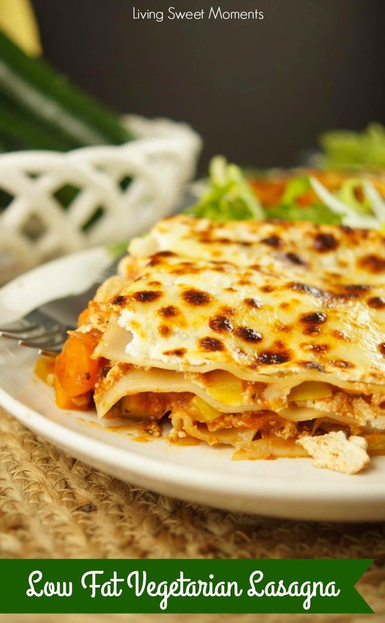 Low Fat Vegetarian Dinner Recipes  Low Fat Ve arian Lasagna Recipe Living Sweet Moments