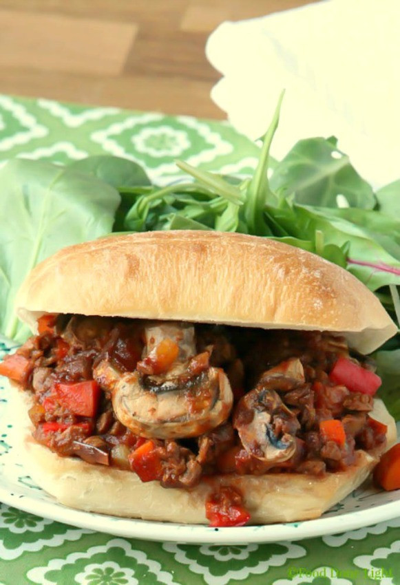 Low Fat Vegetarian Dinner Recipes  Healthy Low fat Ve arian Sloppy Joes Food Done Light
