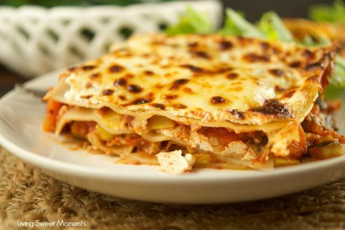 Low Fat Vegetarian Dinner Recipes  Easy Lasagna Recipes Living Sweet Moments