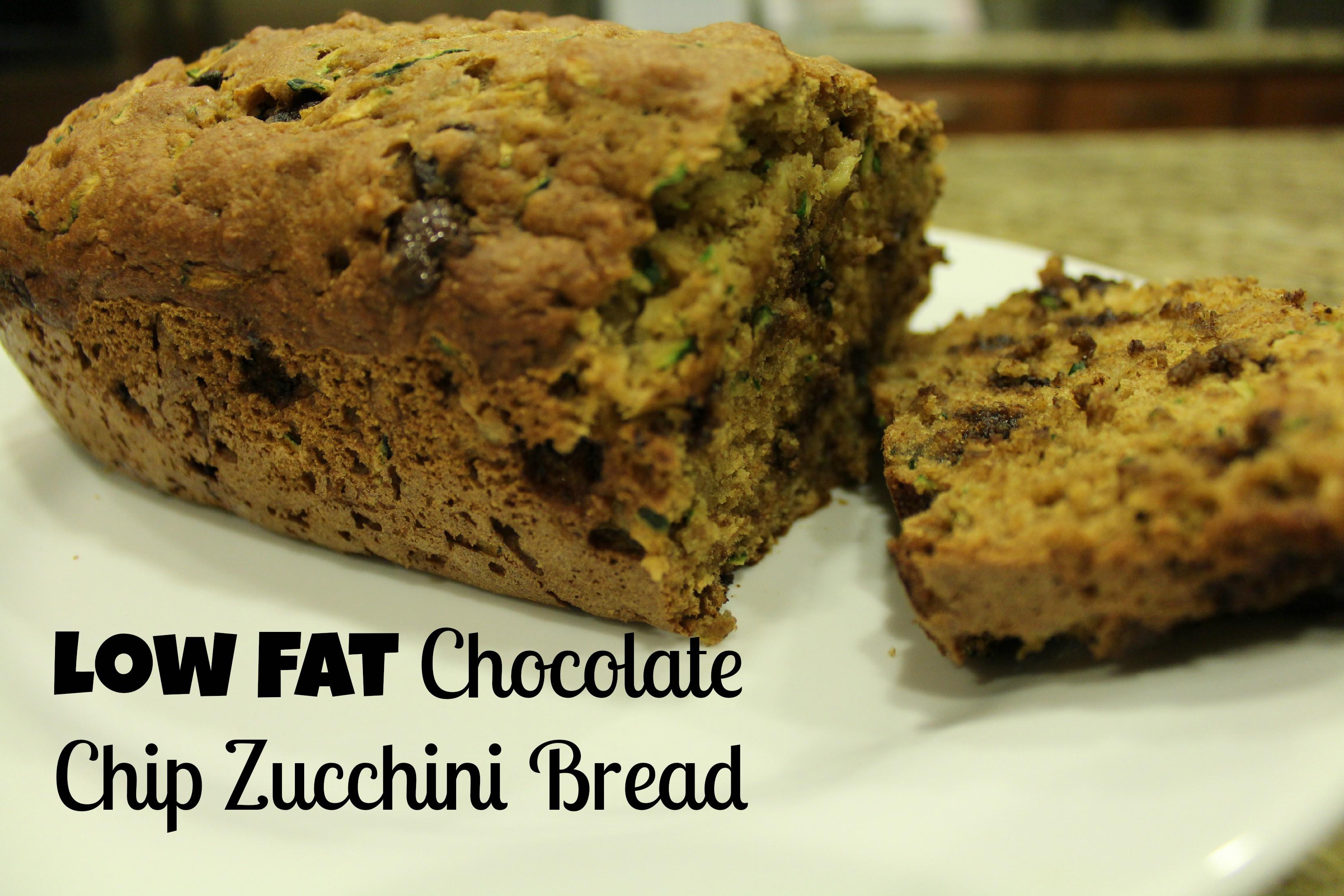 Low Fat Zucchini Bread  Low Fat Chocolate Chip Zucchini Bread